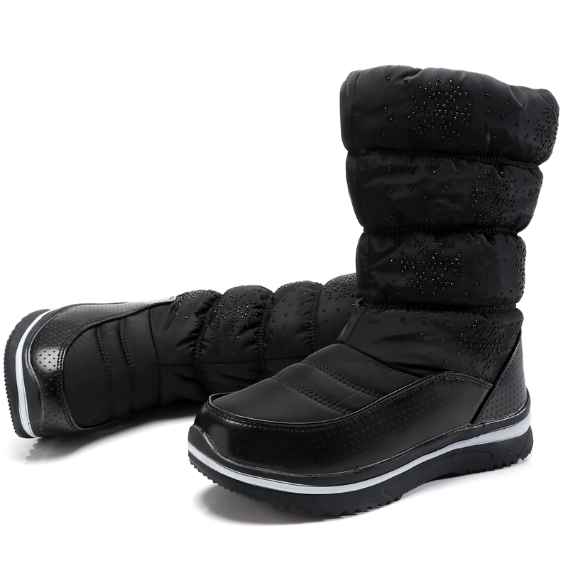 包邮冬季东北户外滑雪旅游防水防滑加厚保暖女雪地棉靴女棉靴