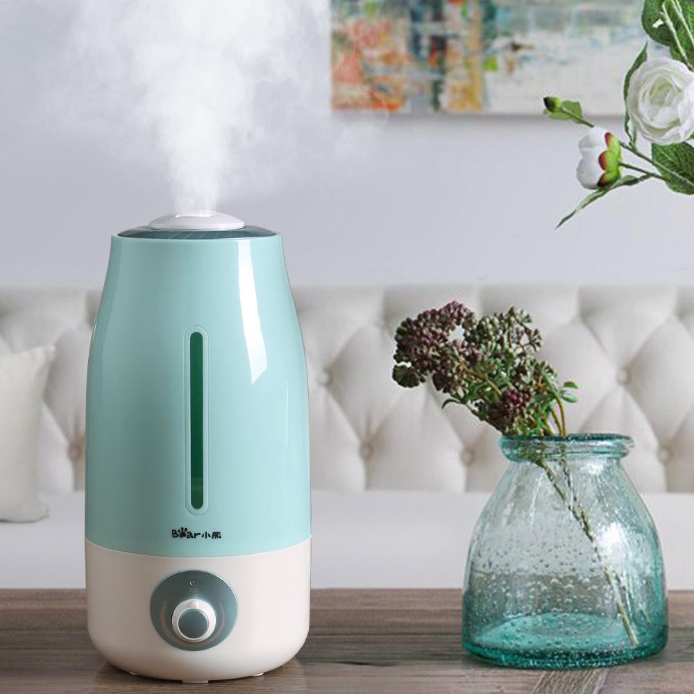 小熊加湿器家用卧室小型大雾量喷雾办公室桌面迷你空调房室内空气