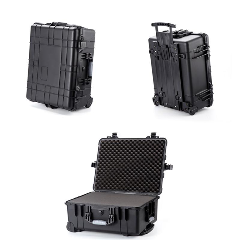 GDT1014防水箱22寸方格海绵无人机设备仪器安全箱航空塑料拉杆箱