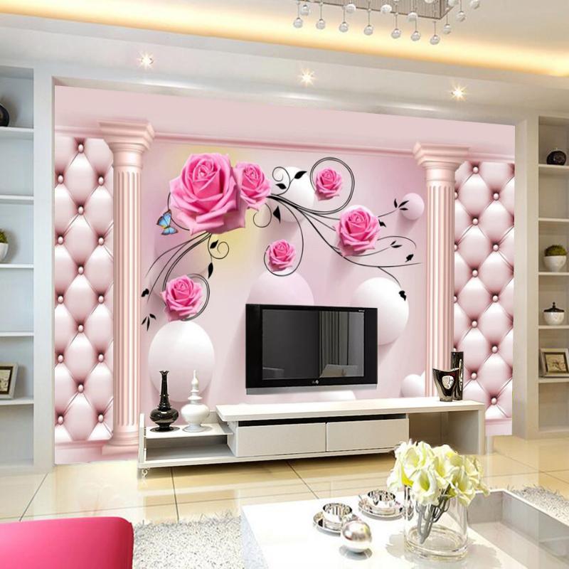 无缝墙布壁画 8d 影视背景 5d 立体现代简约客厅卧室 3d 电视背景墙壁纸