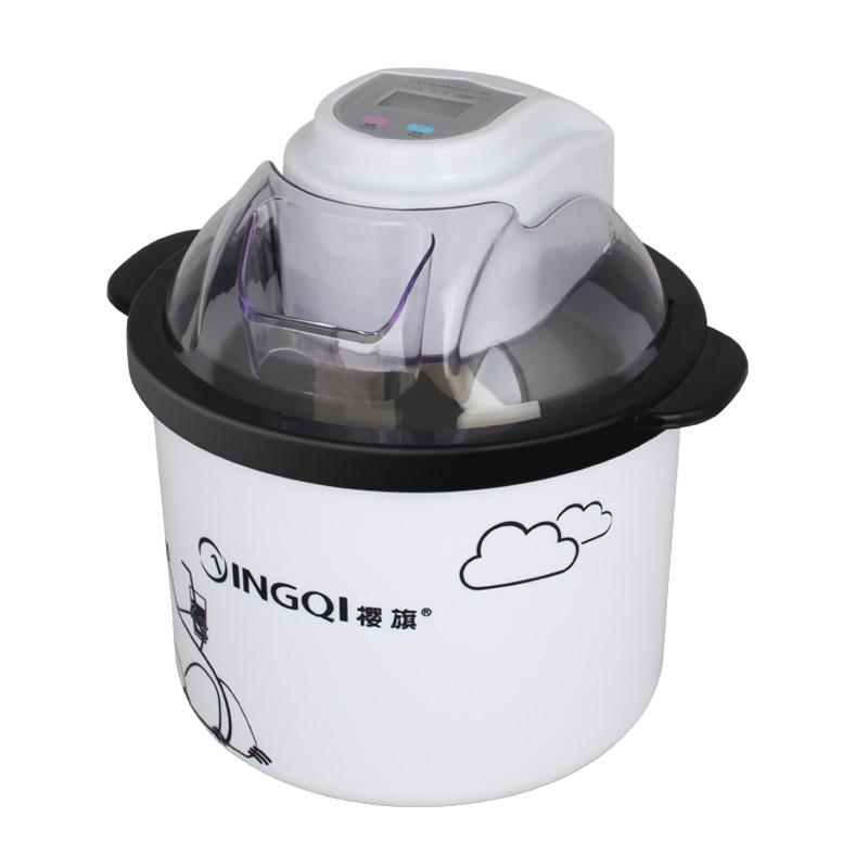 樱旗迷你冰淇淋机家用小型儿童自制作雪糕机全自动水果冰激凌机软