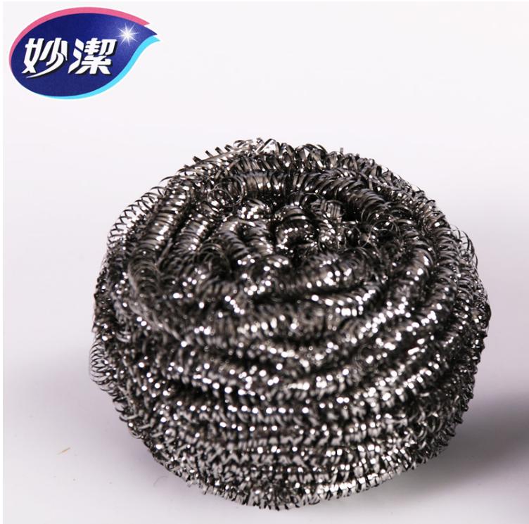 妙洁金属不锈钢粗钢丝球6只装厨房用品清洁洗碗刷锅1-3包包邮