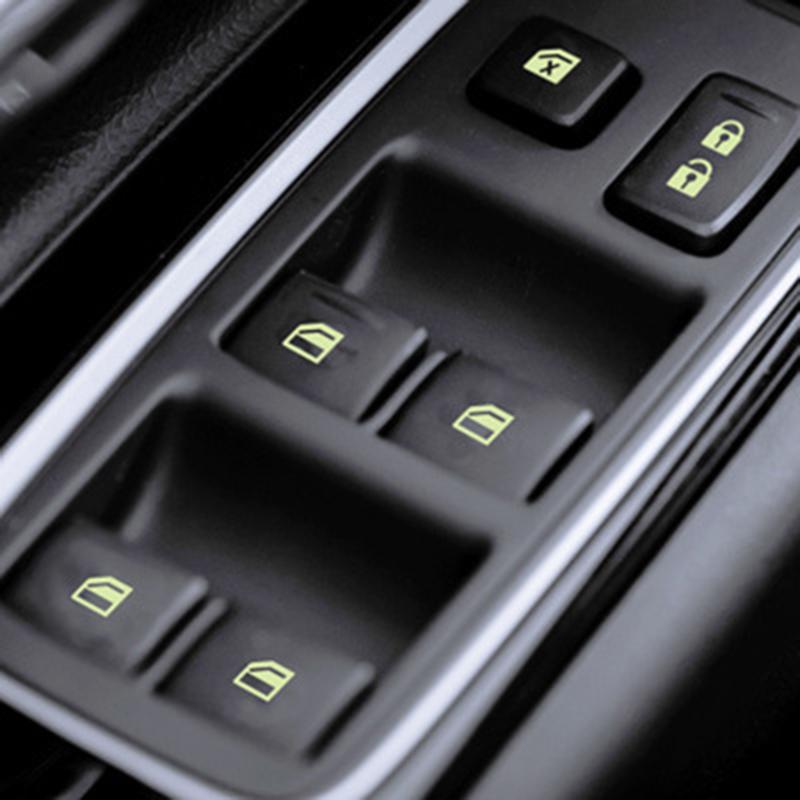 汽车发光立体贴开关车窗按钮升降器改装贴纸通用夜光车身防水贴