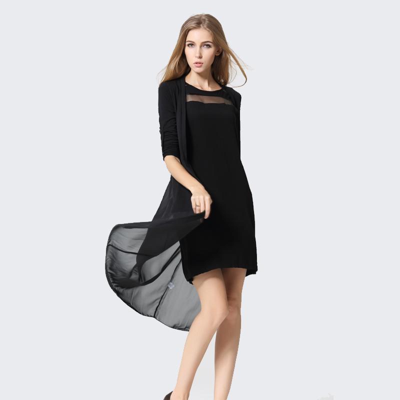 雪纺衫风衣女洋气韩版开衫超仙舂季新款外套搭连衣裙夏中长款披风