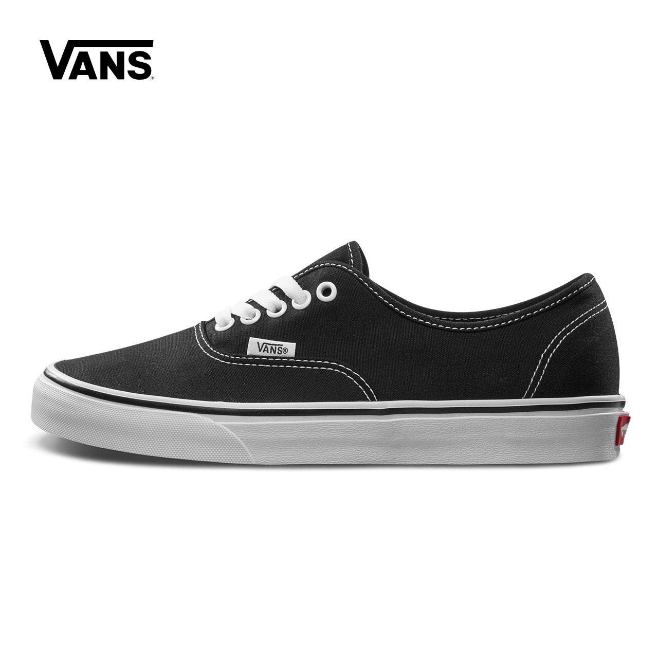 Vans範斯官方正品 經典款Authentic低幫情侶款運動帆布鞋