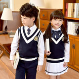Kindergarten clothing spring and autumn British college style school uniform boys and girls children's sweater Korean suit primary school class service