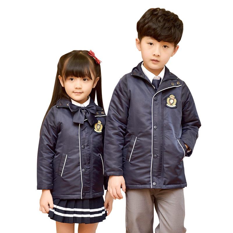 幼儿园园服儿童装秋冬季英伦学院风校服冲锋衣外套初中小学生班服