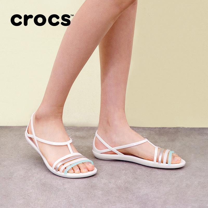 Crocs卡駱馳女鞋 涼鞋女夏 伊莎貝拉夏日平底鞋休閒涼鞋|202465