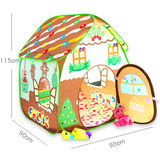 Children's room little girl princess tent game house dollhouse castle baby indoor play house small house folding