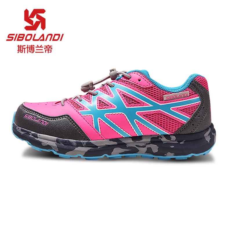 斯博蘭帝春季新款兒童戶外鞋中大女童防滑耐磨登山鞋透氣童鞋