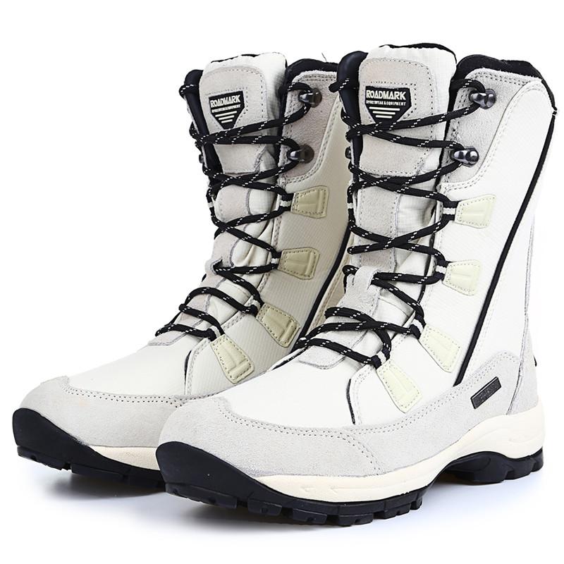 冬季户外雪地靴女防滑防水保暖滑雪鞋中筒东北大码棉鞋旅游登山鞋