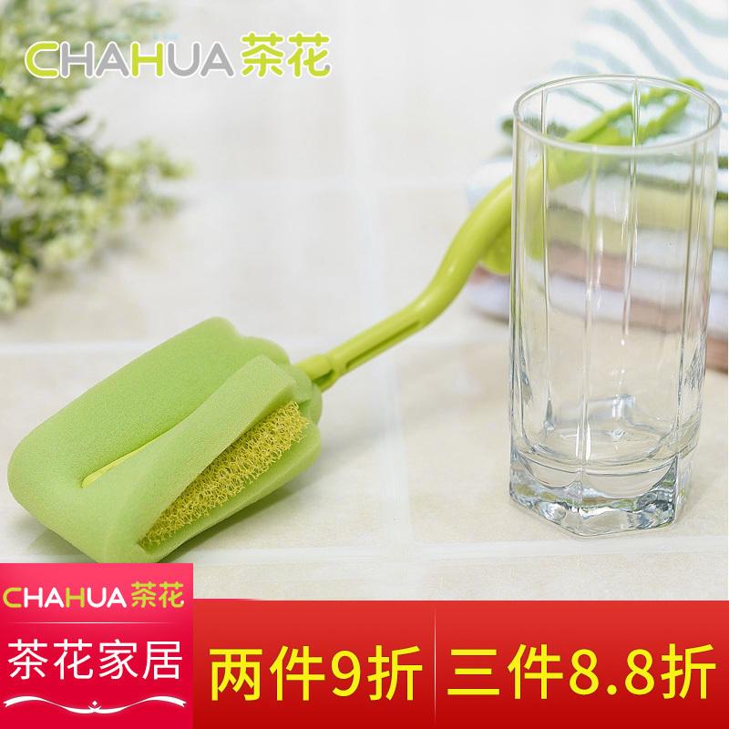 茶花杯刷旋轉式海綿奶瓶刷子 耐用海棉奶瓶清潔刷海棉轉杯刷4422