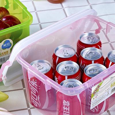 茶花收纳茶花箱小号塑料加厚有盖小物品收盒化妆品收纳箱茶花塑料