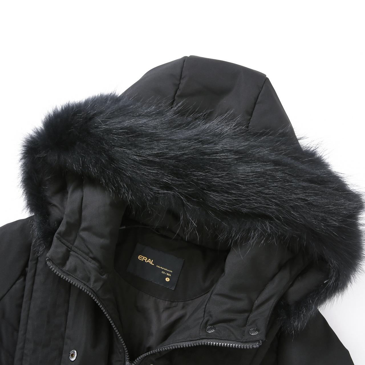 601801191 2019  艾莱依 冬季新款优雅修身中长款白鸭绒羽绒服女