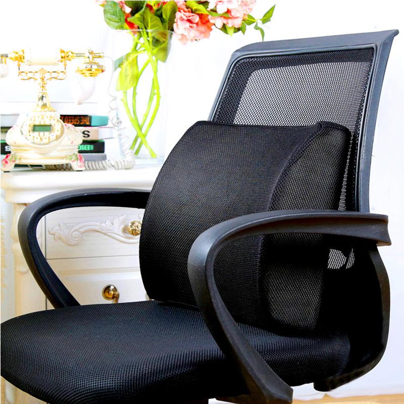靠垫办公室腰靠座椅抱枕记忆棉靠背学生椅子护腰靠枕腰椎腰垫枕头 - 图0