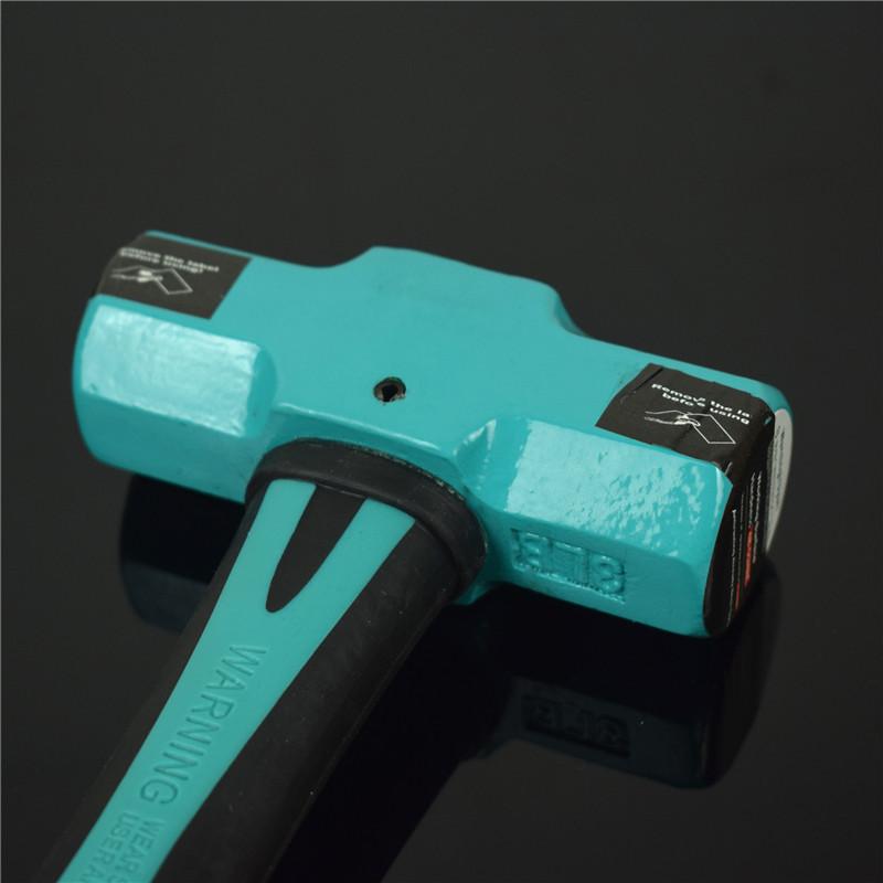 AIWO八角锤TPR手柄方头石工锤铁锤3磅4磅2磅P手锤八角锤锤子锤头
