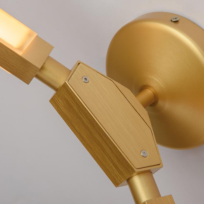 兰亭集势北欧壁灯后现代简约个性创意时针设计师客厅卧室床头灯具
