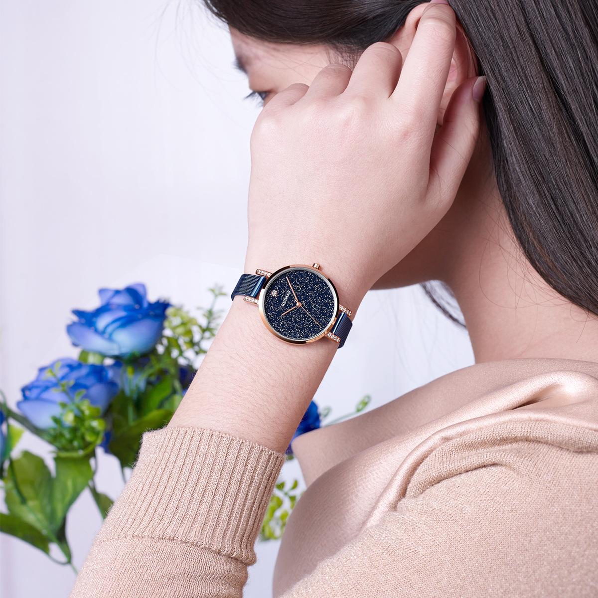 镶钻国产腕表 2019 新款瑞马仕女士时尚简约女手表潮流石英表防水