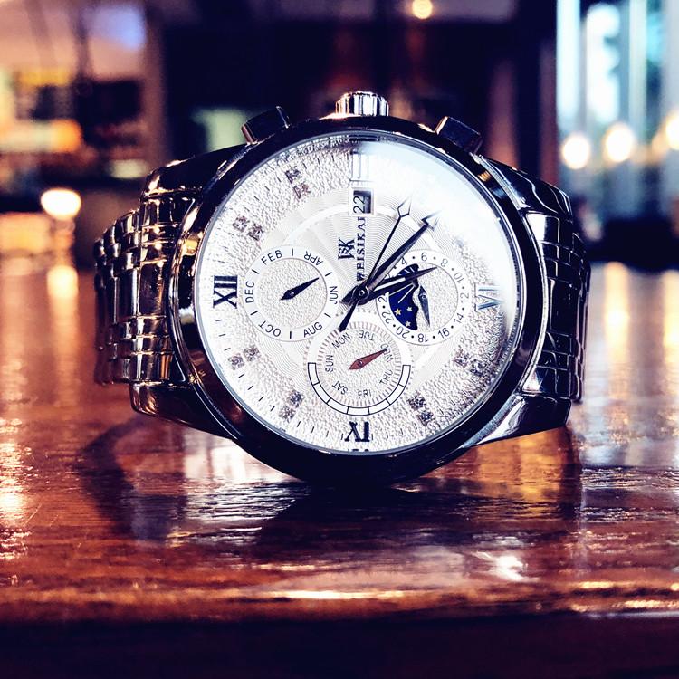 新款時尚潮流男士手表全自動機械表防水夜光鏤空陀飛輪精鋼表 2019