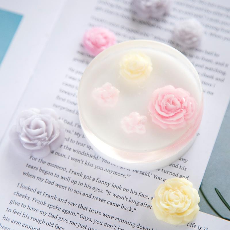 DIY  克 6 爱皂坊 四连花开模具手工 香皂硅胶模巧克力矽胶模出皂约