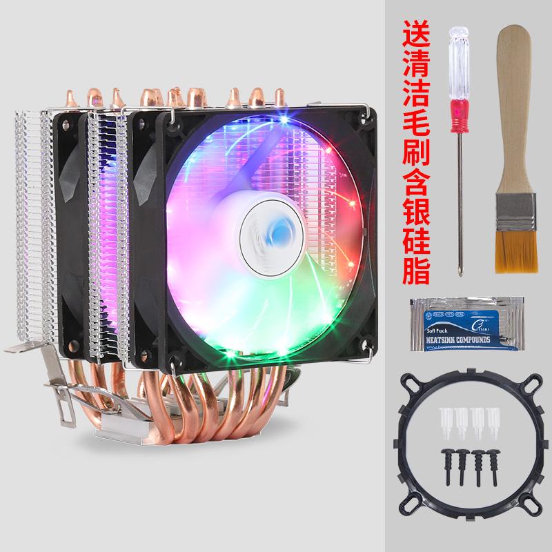 1155超静音纯铜6热管CPU散热器intel 775 AMD台式电脑CPU风扇1151