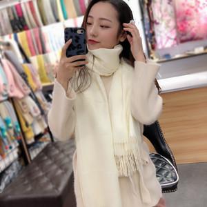 秋冬季韩版百搭时尚长款披肩围脖