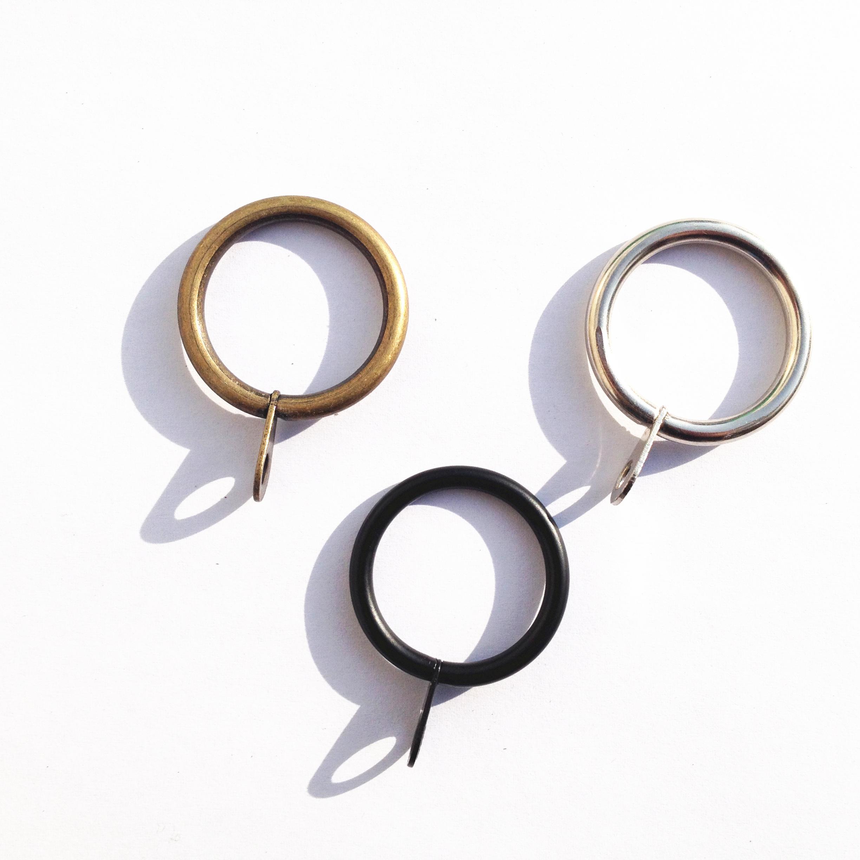 包邮金属窗帘杆挂钩环罗马杆圈环扣 窗帘配件辅料家用大小圆环扣