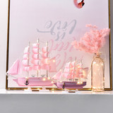 Girl's mind smooth sailing crafts wood small wooden simulation model Decoration gifts graduation season