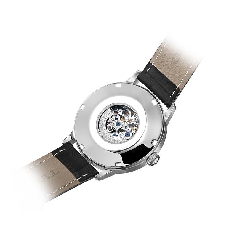 商务休闲 819.12.6013 海鸥手表纤薄男士皮带全自动机械表国产腕表
