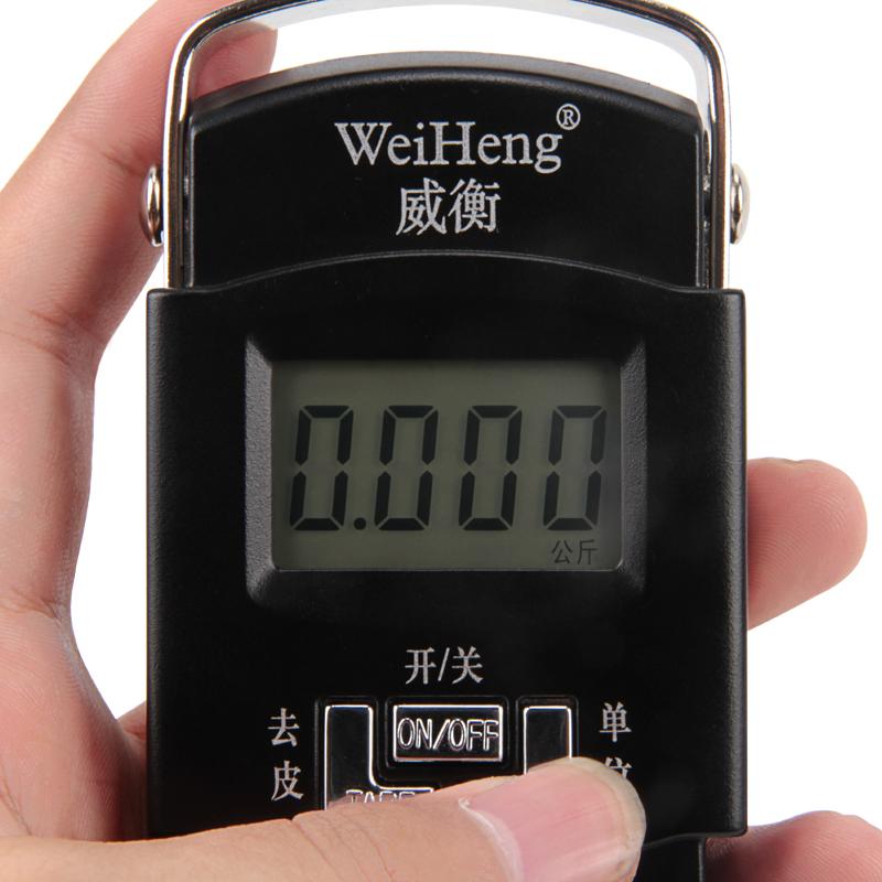 威衡电子称手提秤便携式高精度小秤称重50kg迷你弹簧秤行李快递称