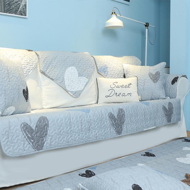 全棉沙发垫布艺简约现代客厅四季通用真皮坐垫子防滑罩巾盖套定做