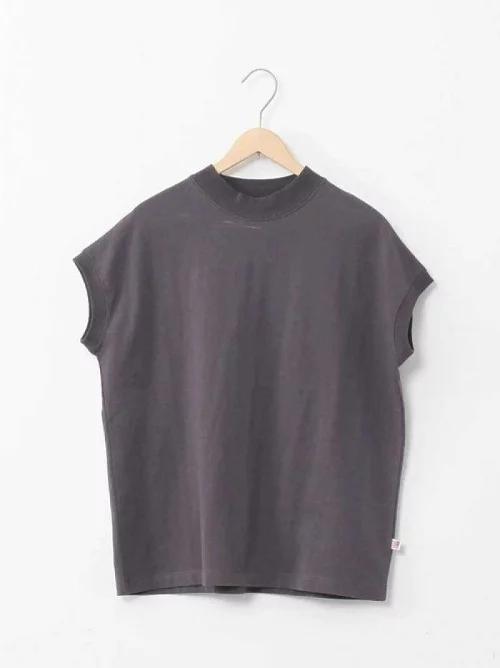 半高领短袖T恤女宽松大码2021夏季新款韩版纯棉半袖体恤上衣潮ins主图