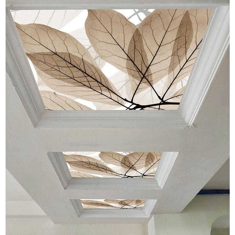 创意现代简约艺术玻璃吊顶装饰玻璃过道客厅吊顶天花透光玻璃定做