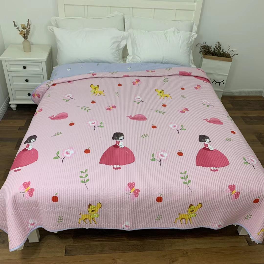 斜纹纯棉绗缝被加厚加棉两面水洗床单床盖夏季韩式榻榻米垫多用垫