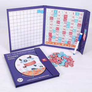 木制早教百数板1到100小学生一年级数学教具益智儿童玩具数字拼图