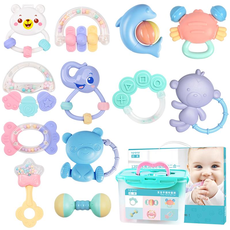 婴儿玩具益智早教0-12手摇铃3四新生儿童岁个月宝宝4牙胶五5幼儿6