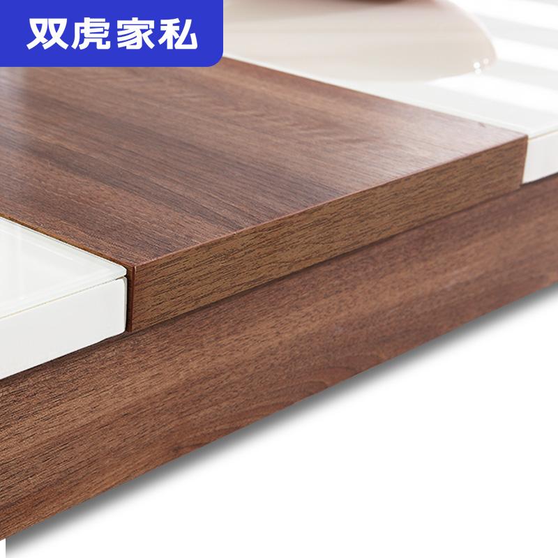 双虎家私餐桌椅组合现代简约小户型餐桌家用饭桌北欧伸缩餐桌15K2