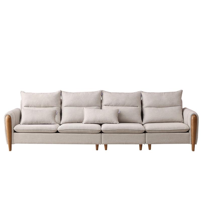 双虎家私 北欧沙发小户型组合客厅日式现代简约整装布艺沙发101