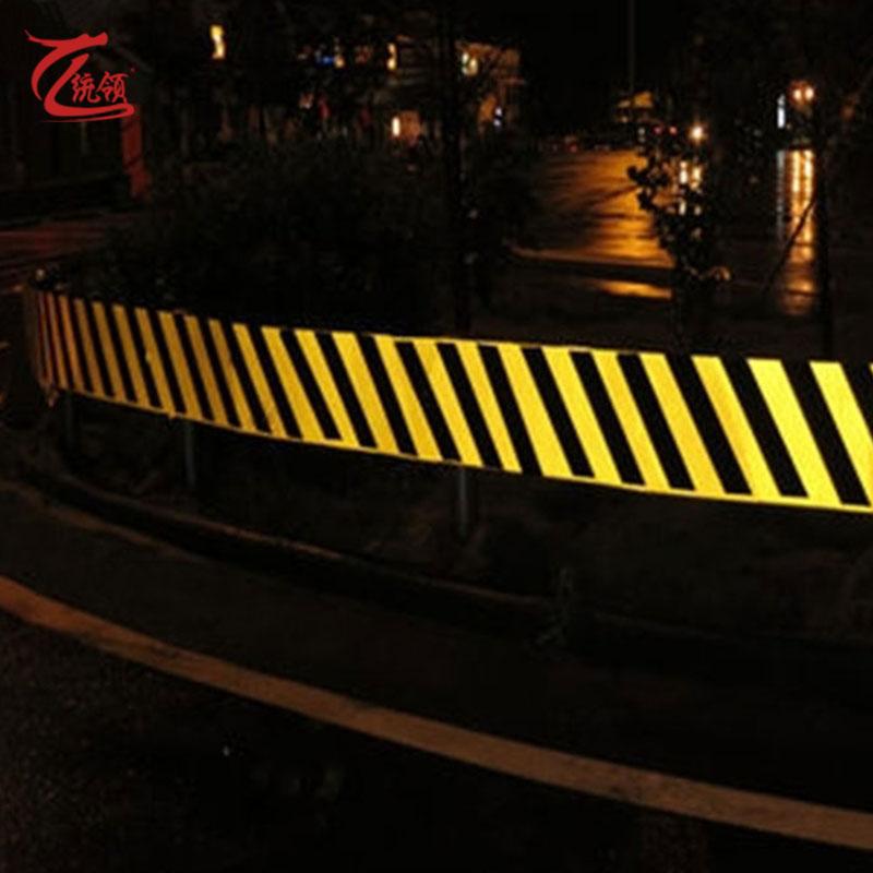 10cm反光胶带黄黑红白斜纹反光贴条地面墙面安全标示带反光条