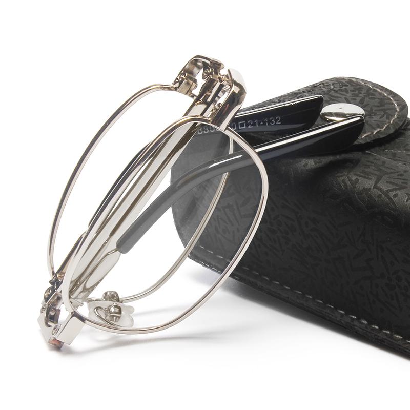 老花镜男高清防蓝光时尚优雅超轻折叠便携式老人老光眼镜女花镜