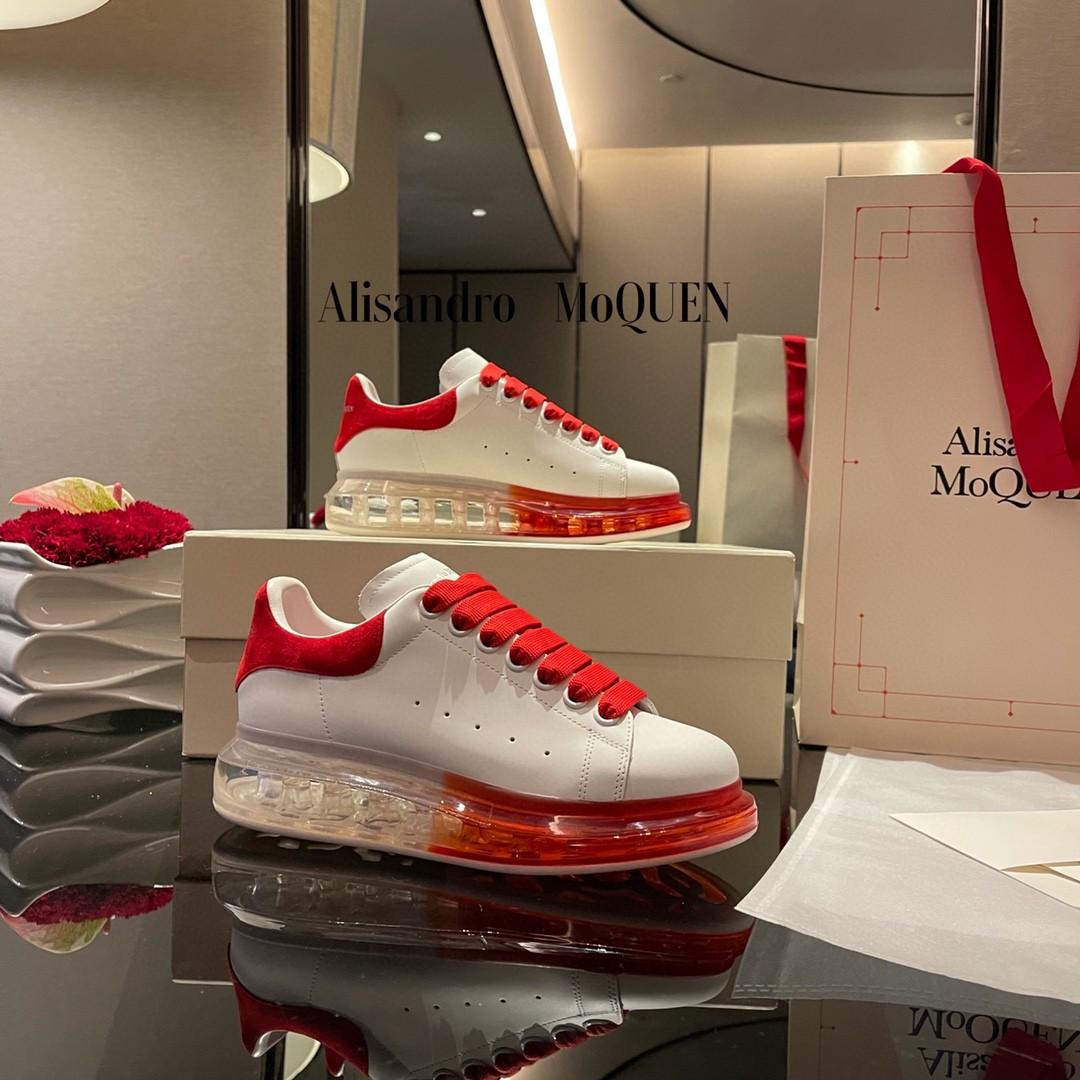 香港正品新款麦昆小白男鞋真皮内增高厚底板鞋时尚百搭拼色女鞋潮