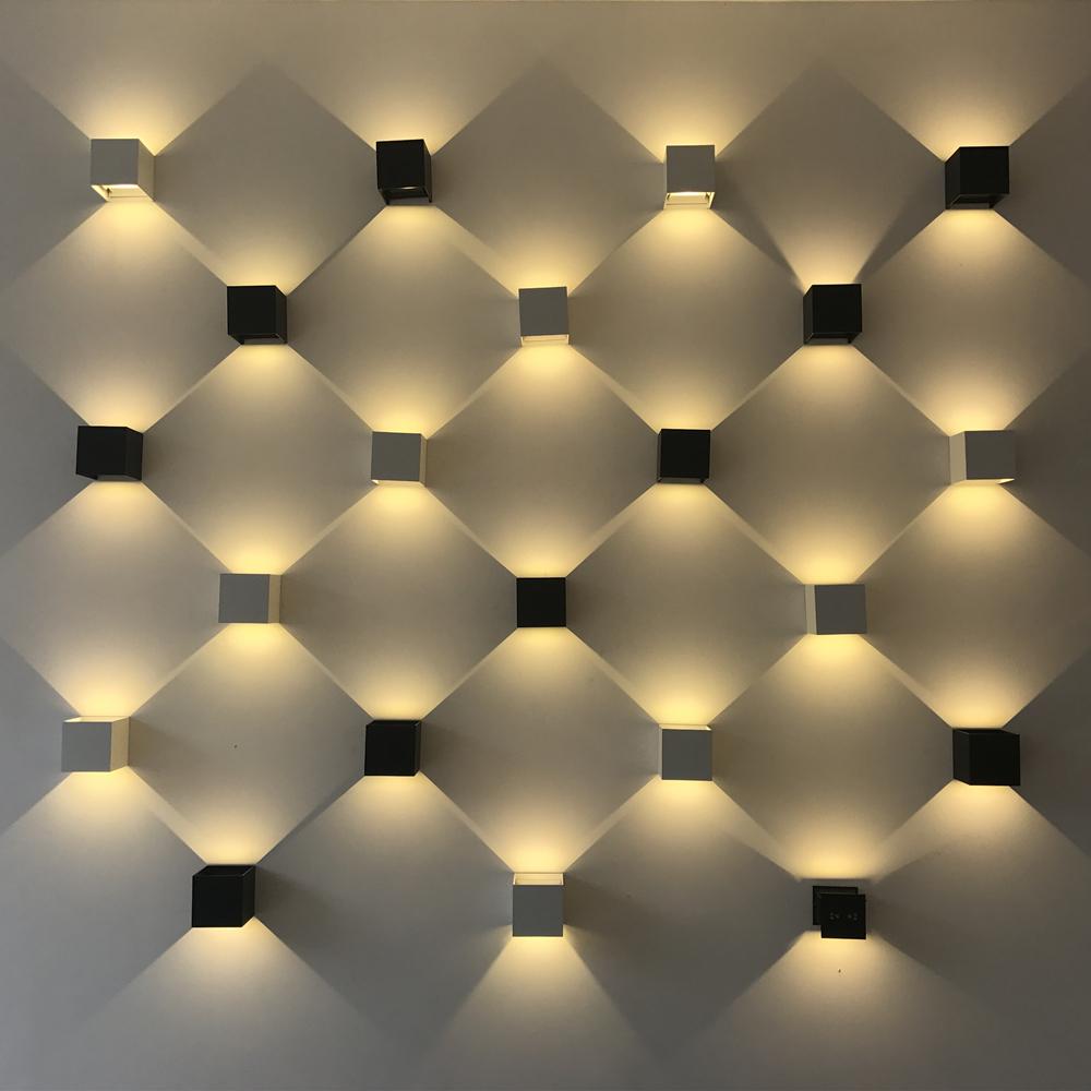 室外防水双头壁灯柱子外墙调光阳台走廊过道楼梯灯创意简约灯 LED