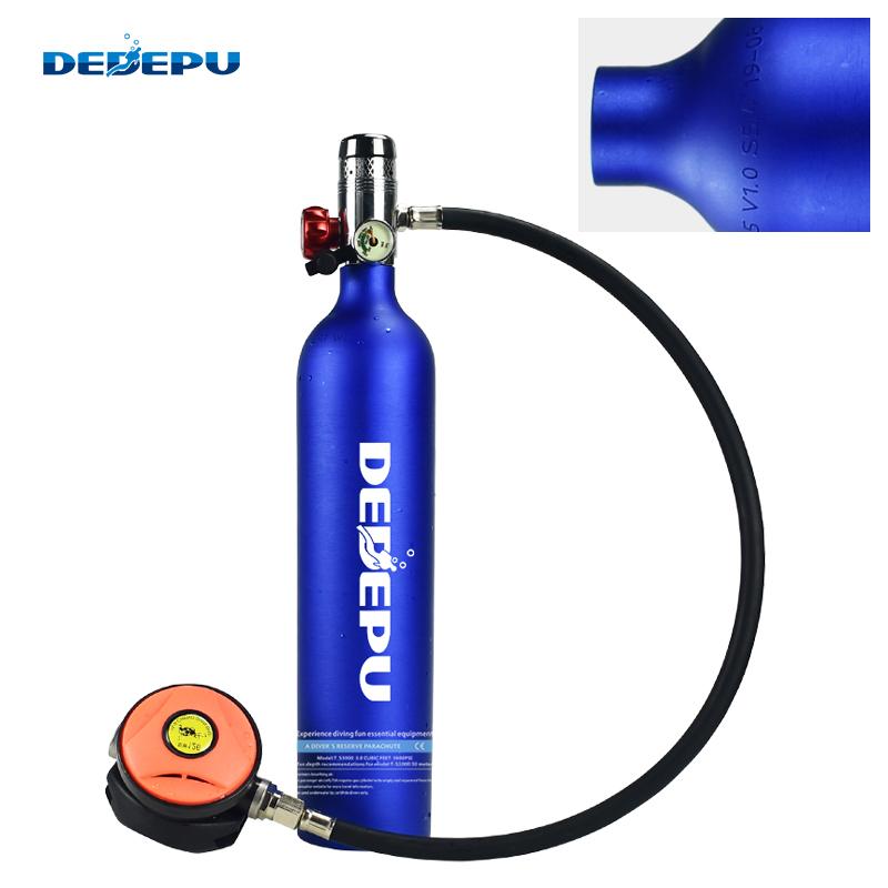 容量便携式潜水氧气瓶包邮 1L 蓝色 户外潜水装备氧气瓶 DEDEPU