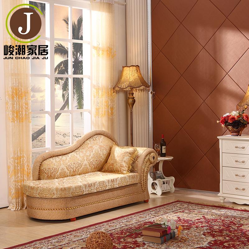 歐式田園貴妃椅小戶型布藝貴妃沙發時尚躺椅美人塌太妃椅臥室