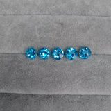 Natural Blue Topaz Swiss Blue Sky Blue Oval Water Drop Round Bare Surface Stone Pure Net DIY