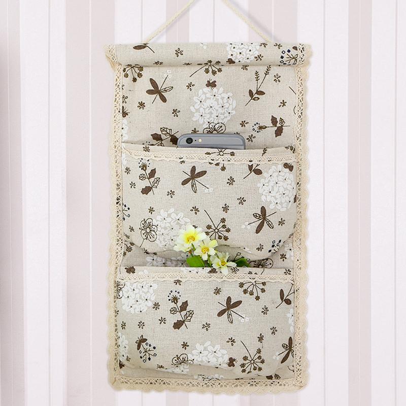 收纳袋多层布艺墙挂式悬储物杂物袋手机挂兜包包袜子衣柜收纳挂袋