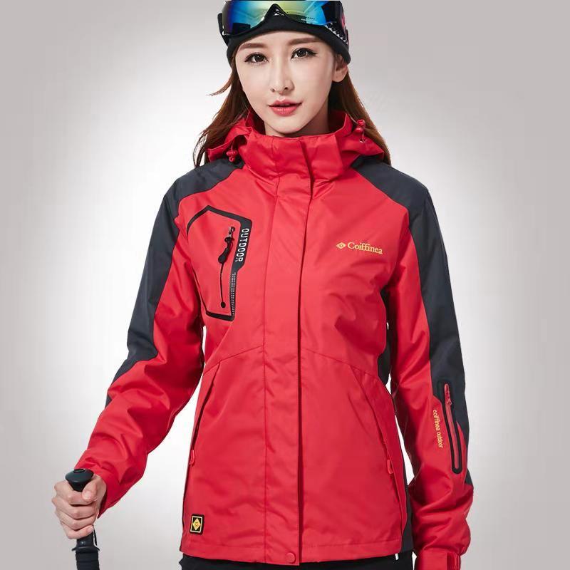 冬季户外冲锋衣男女两件套三合一可拆卸加厚登山服潮牌防水风大衣