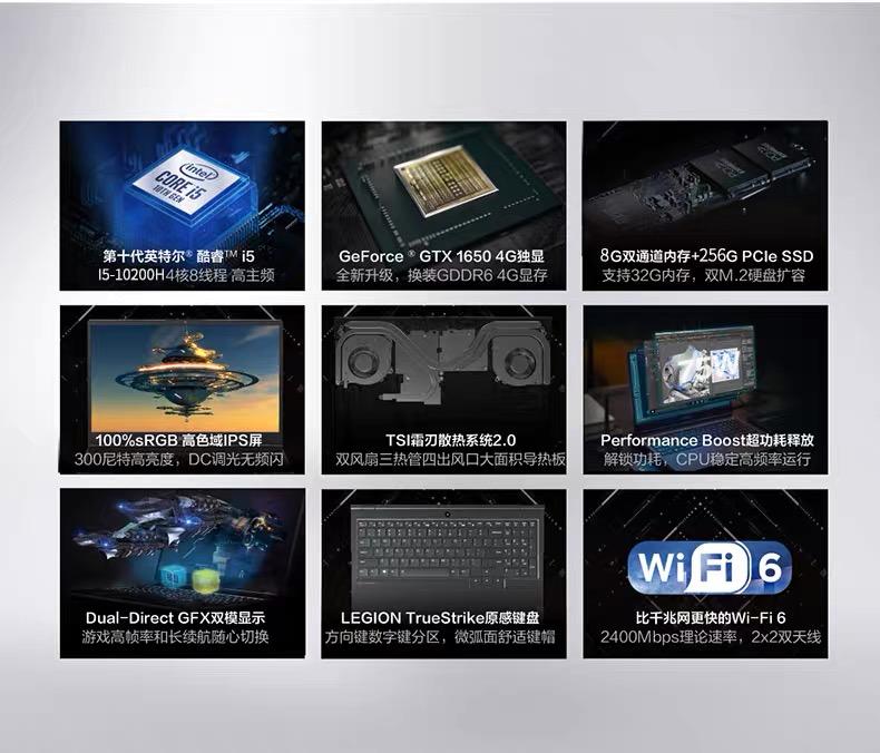 笔记本电脑 Y7000P 新款吃鸡游戏 2020 锐龙 R7000 拯救者 联想 Lenovo