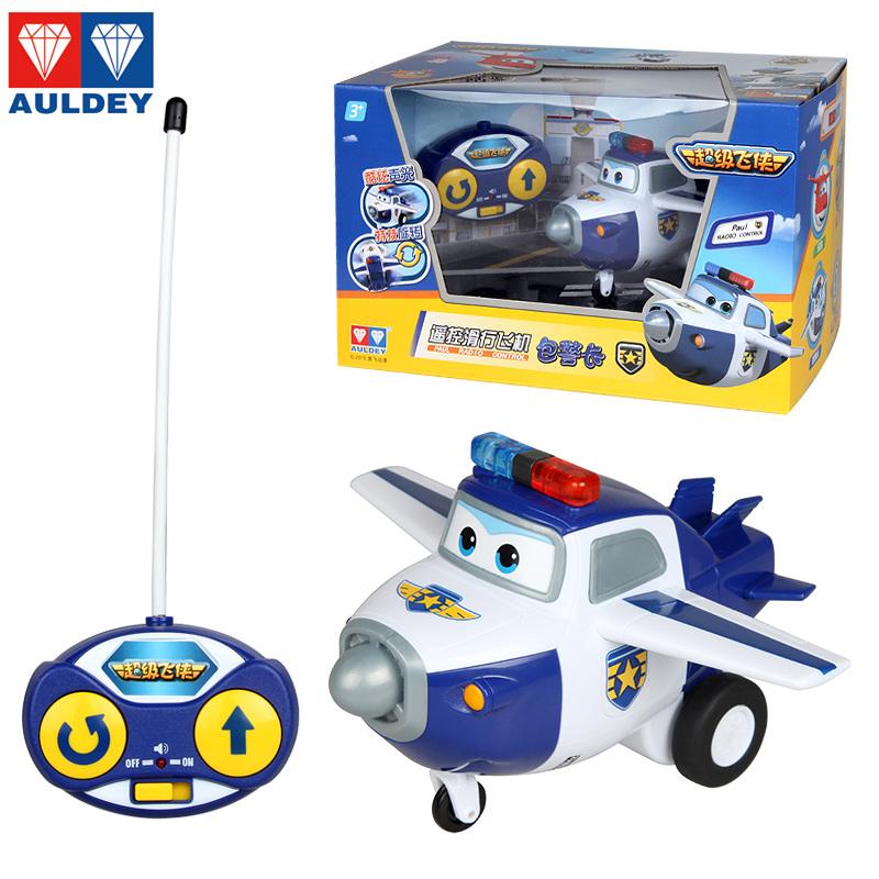 奥迪双钻超级飞侠遥控滑行飞机乐迪儿童玩具变形机器人小遥控飞机
