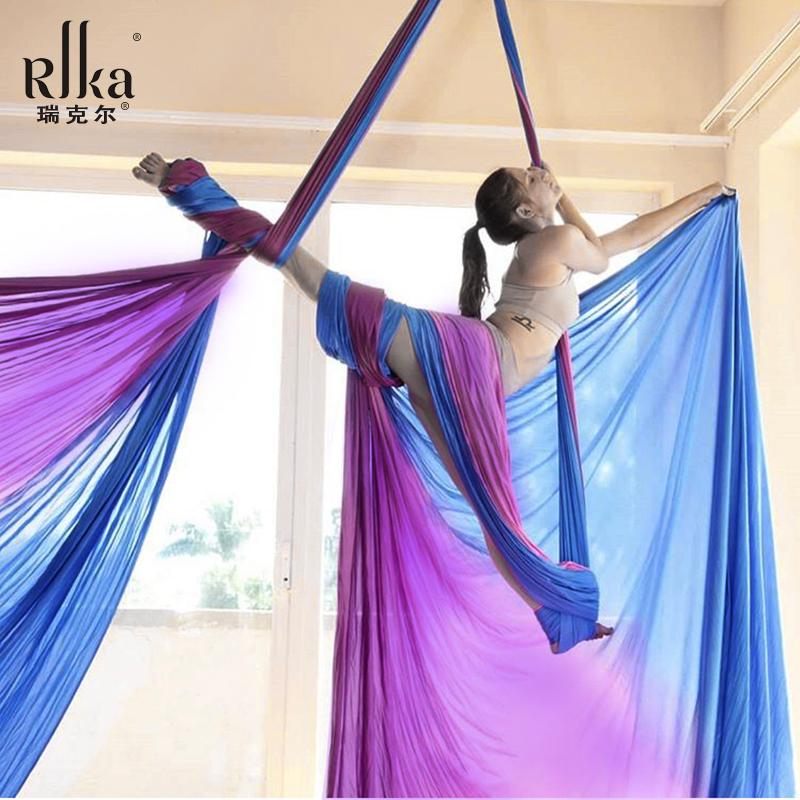 瑞爻高空瑜伽空中吊床空中瑜伽綢緞舞吊床瑜珈吊床吊帶吊繩伸展帶